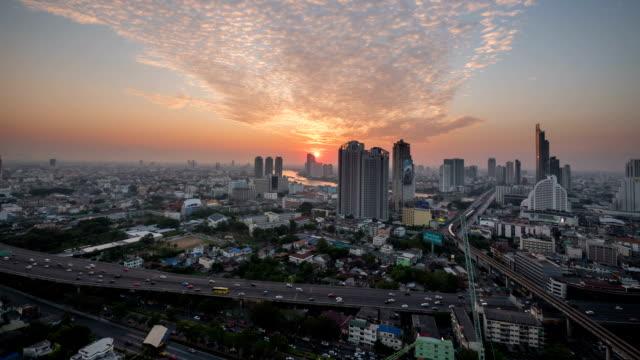 Tramonto a Bangkok City: Giorno alla notte, Time-Lapse
