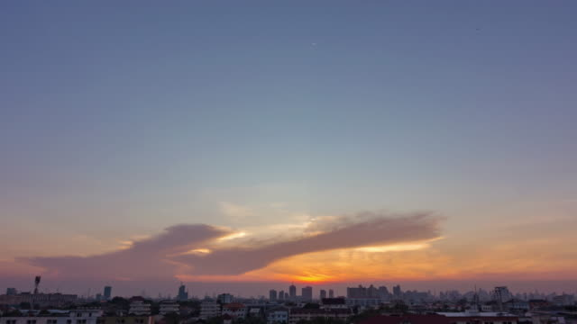 sunset in bangkok city : day to night time-lapse - facade stock videos & royalty-free footage