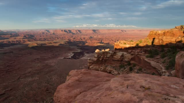 sunset in canyonlands national park, utah - canyonlands national park stock videos & royalty-free footage