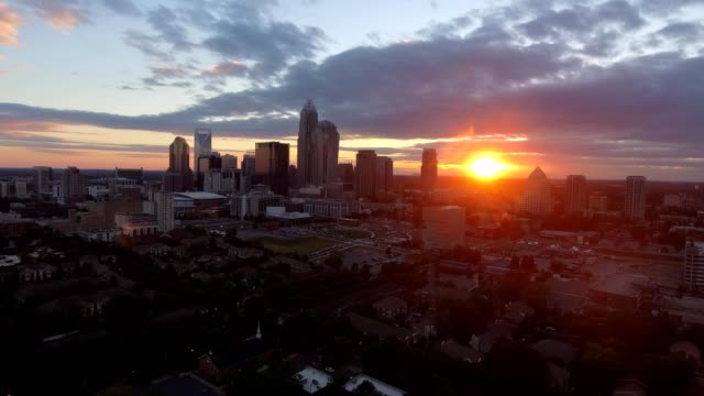 sunset in charlotte nc - charlotte north carolina stock videos & royalty-free footage