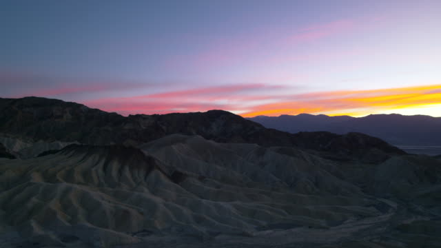 sunset in death valley national park - rolling landscape stock videos & royalty-free footage