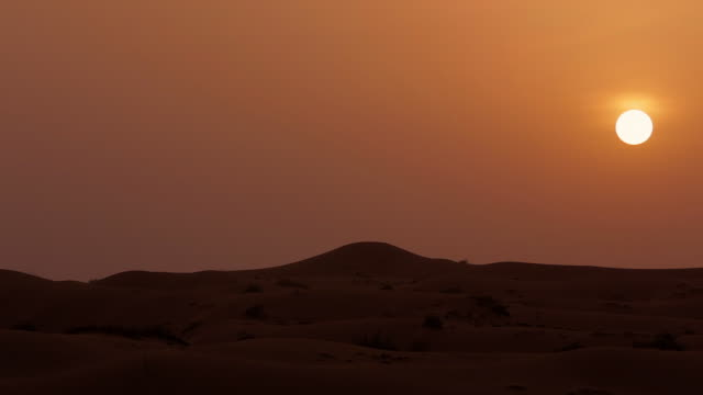 ws sunset in desert - dry stock videos and b-roll footage