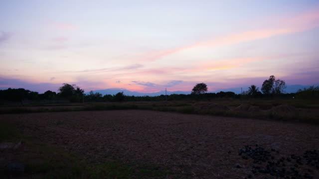 sunset in field Chaingmai