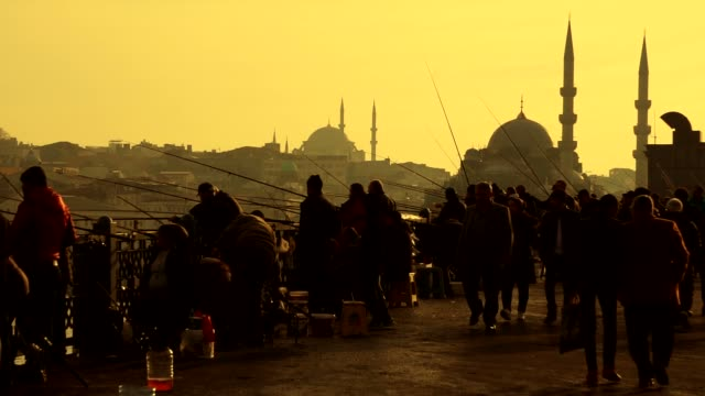 sunset in istanbul. - islam stock videos & royalty-free footage