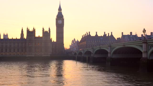 sunset in london - city of westminster london stock videos & royalty-free footage