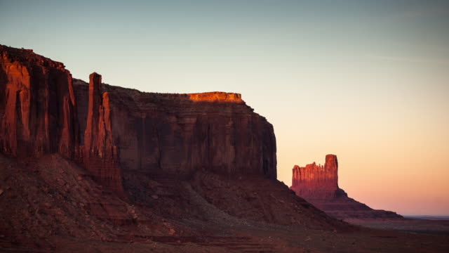 Zonsondergang in Monument Valley