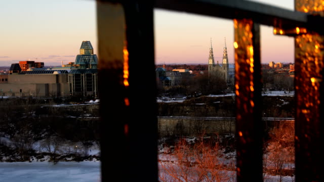sunset in ottawa - ottawa stock videos & royalty-free footage