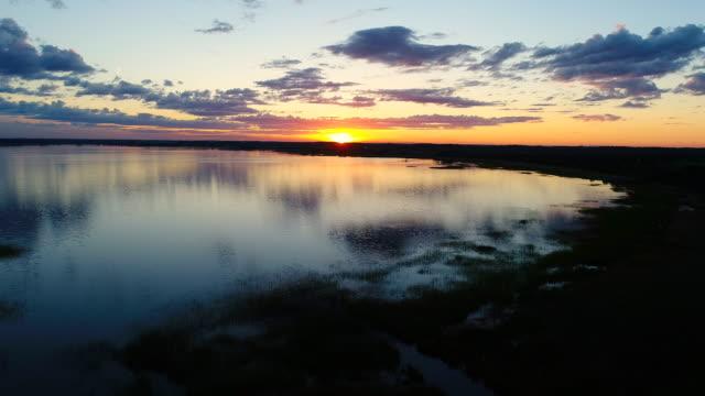 Sunset in Razna lake Latvia at Ligo time