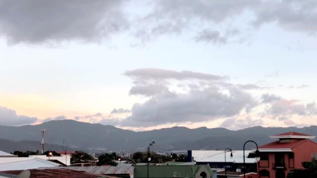 sunset in san jose, costa rica - san jose costa rica stock videos & royalty-free footage
