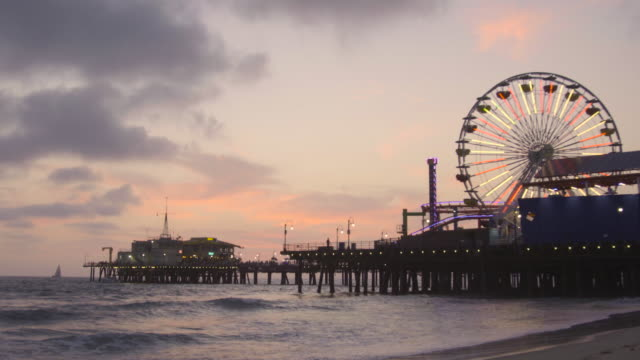 Sunset in Santa Monica Pier