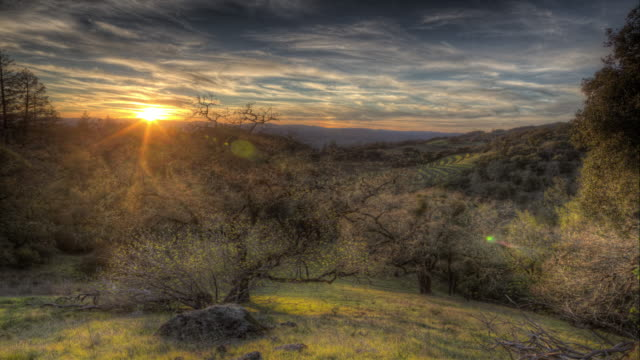 Sunset in Sonoma, California