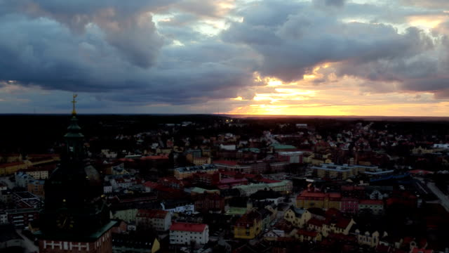 AERIAL: Sunset in Strängnäs