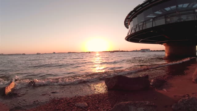 sunset in the city of porto alegre - pôr do sol stock videos & royalty-free footage