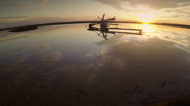 sunset in the lake - helicopter point of view stock videos and b-roll footage