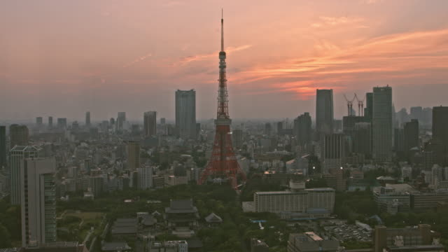 sunset in tokyo - roppongi stock videos and b-roll footage