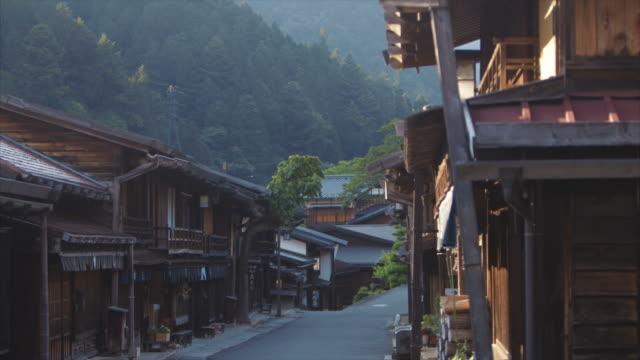 妻籠、日本の夕暮れ - 村点の映像素材/bロール