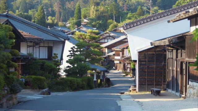 妻籠、日本の夕暮れ - village点の映像素材/bロール
