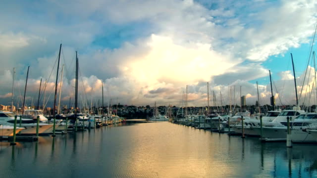 Sunset in Westhaven Marina