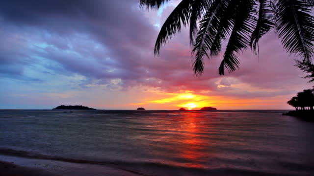 sunset island - hawaii islands stock videos & royalty-free footage