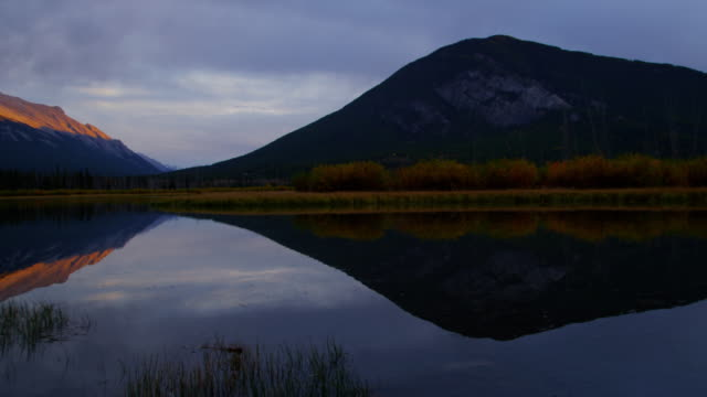 Sunset lake view Canadian Rockies Banff National Park