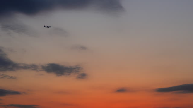 sunset landing - tokyo bay stock videos and b-roll footage