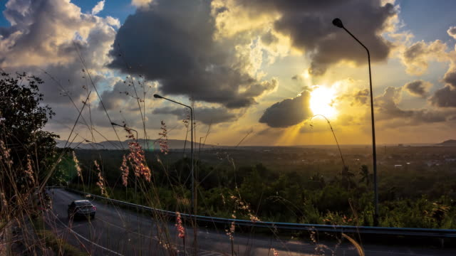 sunset landscape - songkhla province stock videos and b-roll footage