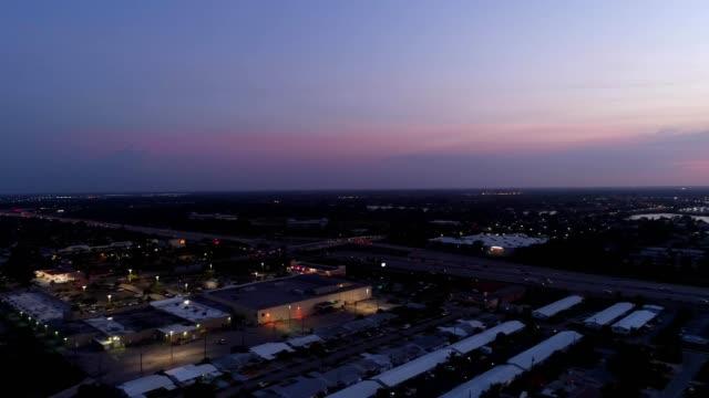 sunset lantana i-95 - dusk stock videos & royalty-free footage