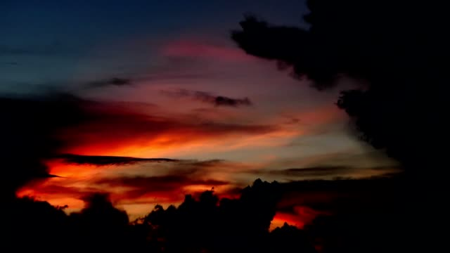 夕焼け雲の移動