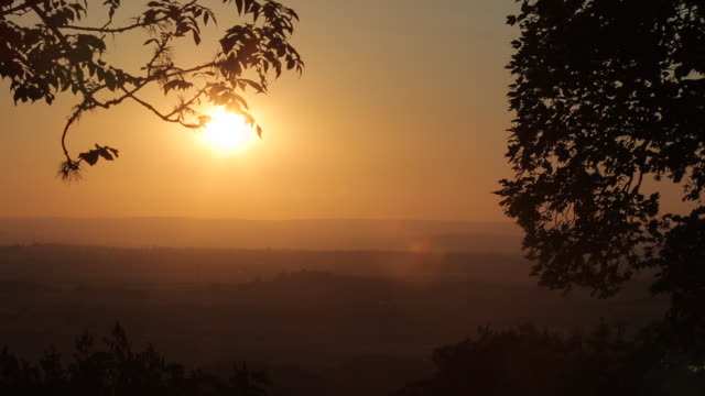 Sunset near Chesterfield, Derbyshire, England, UK, Europe
