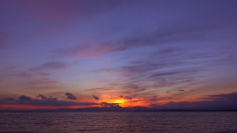 sunset ocean - time lapse - satoyama scenery stock videos & royalty-free footage