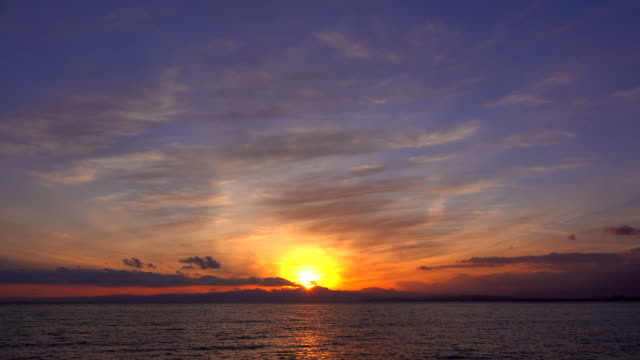 sunset ocean - time lapse - tide stock videos & royalty-free footage
