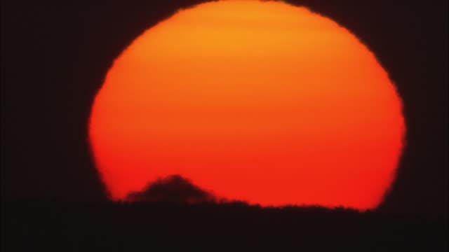 sunset of sarobetsu plain in hokkaido - 荒野点の映像素材/bロール