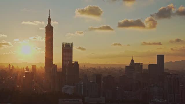sunset of taipei city at dusk taiwan - taipei stock videos & royalty-free footage