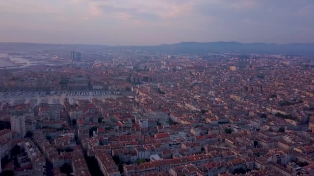 sunset of the city of marseille - france stock videos & royalty-free footage
