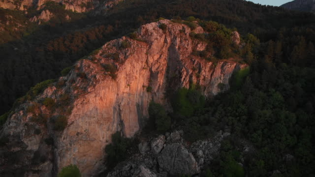 Sunset on a Hill in Spil Mountain National Park, Manisa, Turkey