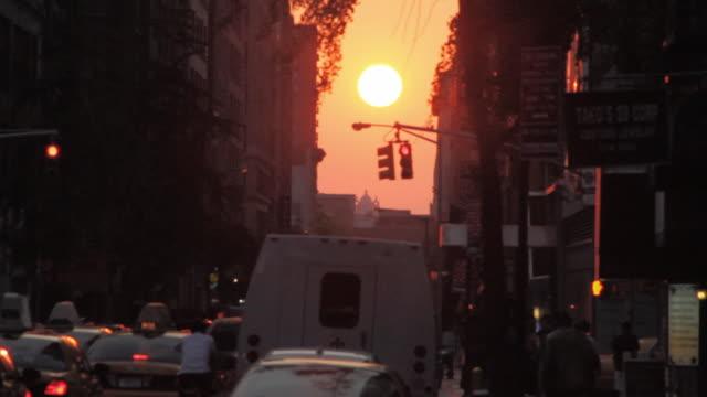 Sunset on a New York Street