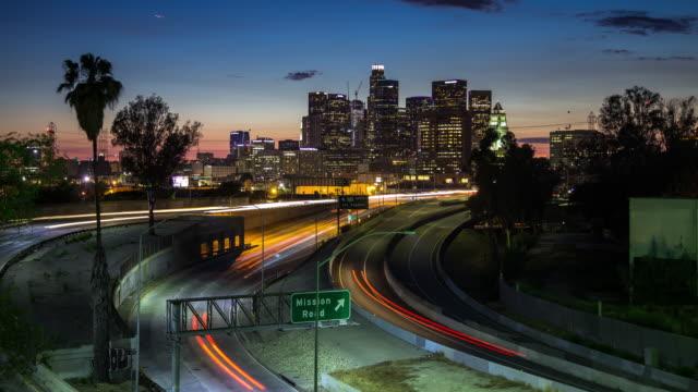 Sonnenuntergang am LA Freeway - Zeitraffer
