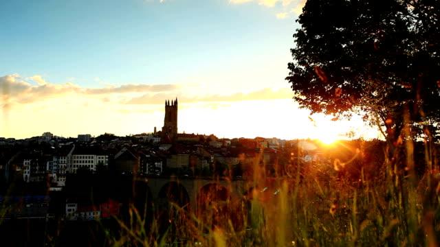 Sonnenuntergang auf Fribourg