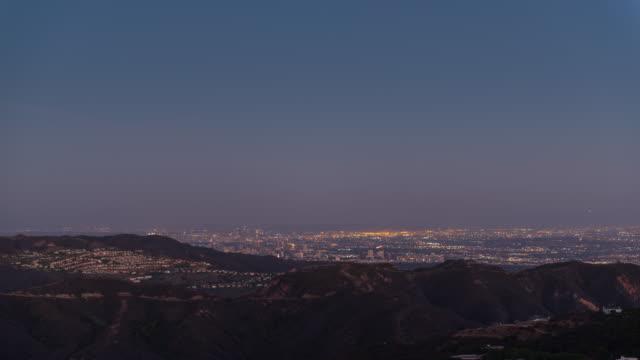 Sunset on LA from Malibu 4K TIME LAPSE