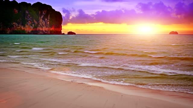 sunset on krabi. - krabi province stock videos & royalty-free footage