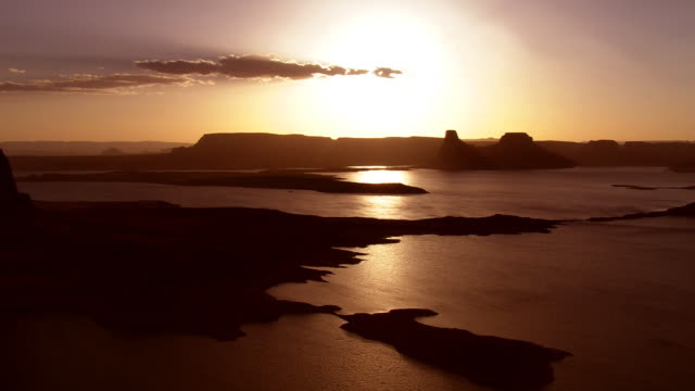 sunset on lake powell - lake powell stock videos & royalty-free footage