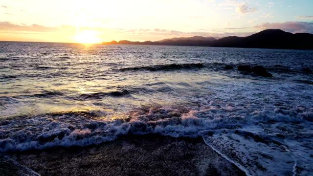 sunset on pacific coast beach of san francisco , california , usa - pacific coast stock videos & royalty-free footage