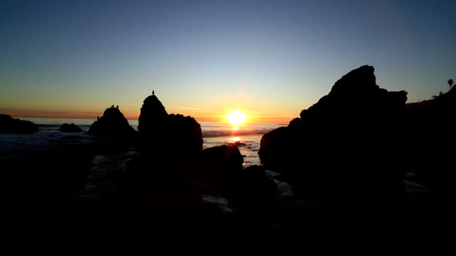 Sunset en Rocky Beach
