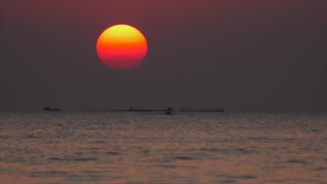 Sunset On Sea Slow Motion