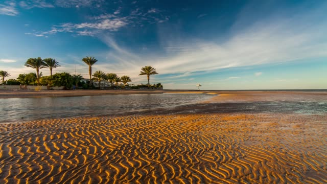 sunset on the beach. egypt - red sea stock videos & royalty-free footage