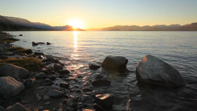 Sunset on the lake. Mongolia