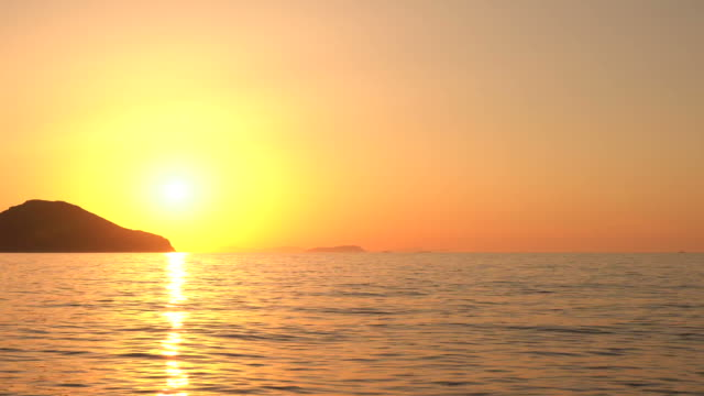 sunset on the sea - turkey stock videos and b-roll footage