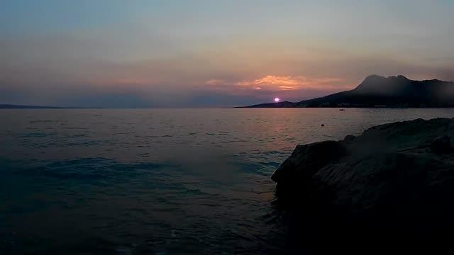 Sonnenuntergang über Adria