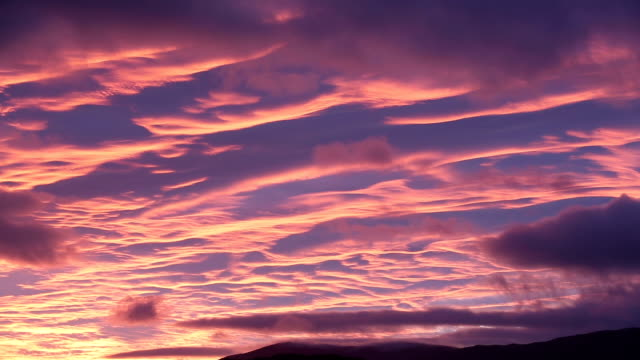 sunset over ambleside - purple stock videos & royalty-free footage