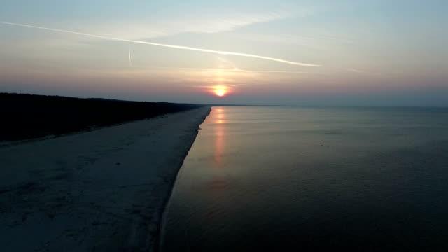 Sunset over Baltic beach